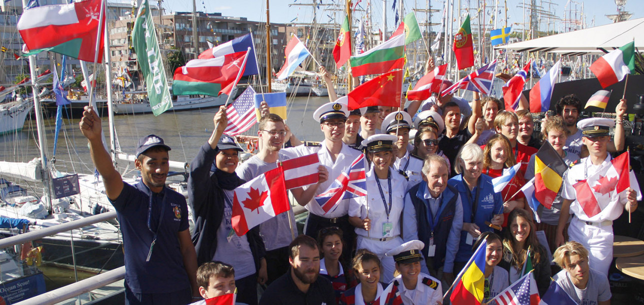 Miehistöä Tall Ships Races 2017