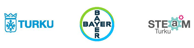 Turun, Bayerin ja STEAMin logot