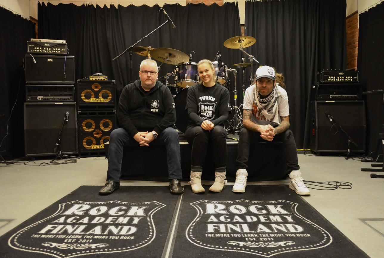 Turku Rock Academy, Tomi Arvas, Outi Nurmela, Mark Bertenyi
