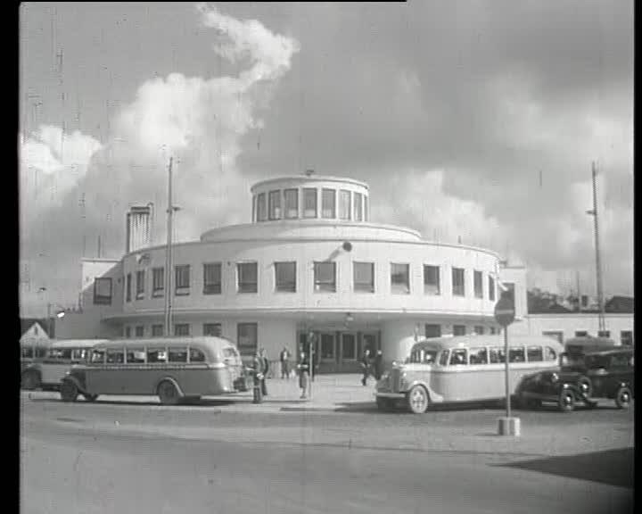 Turun linja-autoasema 1940-luvulla