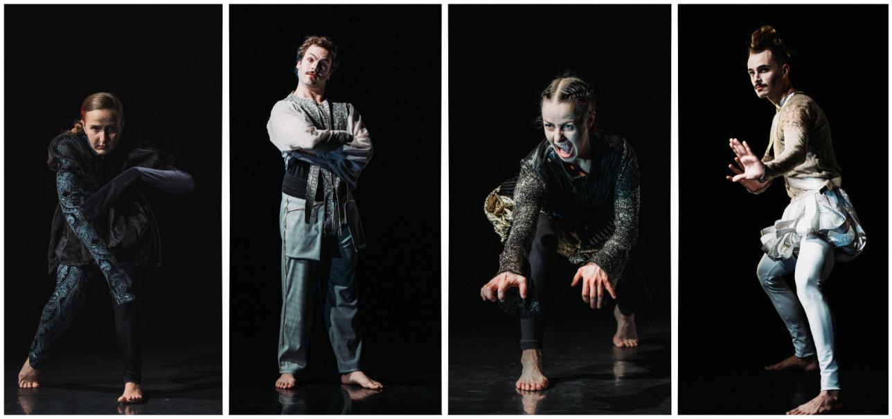 Esityksen hahmot Don Limari, Don Hypnotrick, Don Eläina ja Don Cômppu.