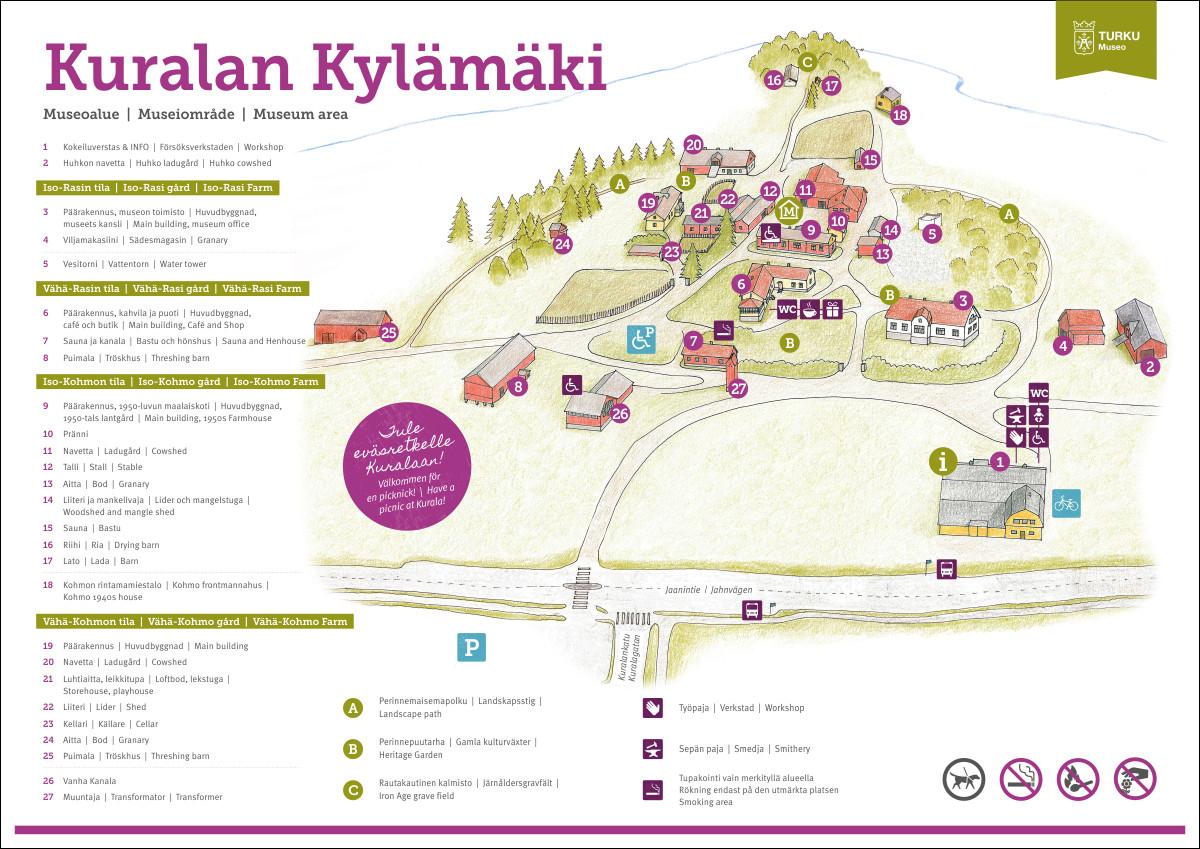 Kuralan Kylämäen aluekartta