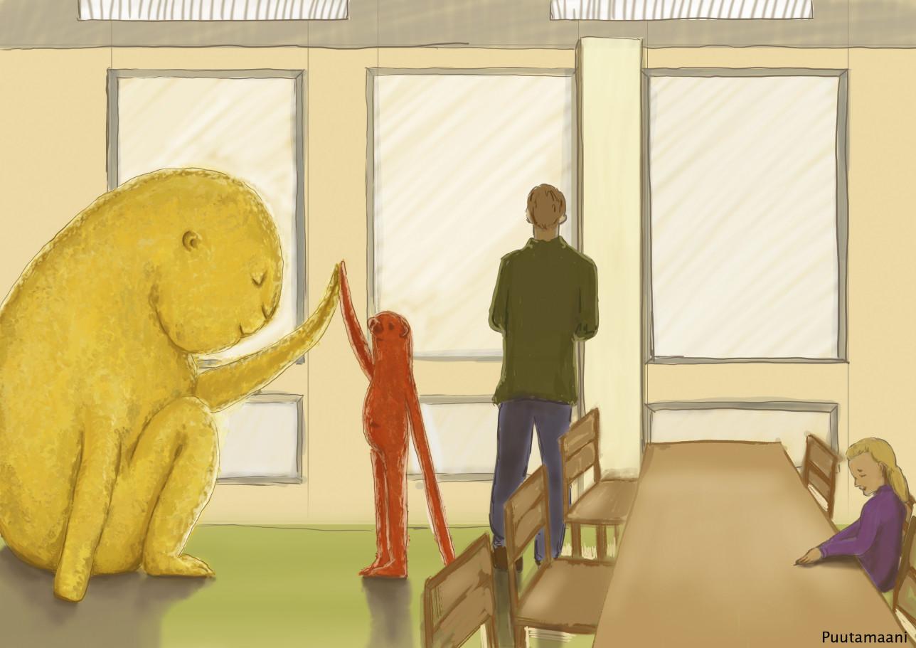 Havainnekuva Sirkkalan koulun taidekilpailusta