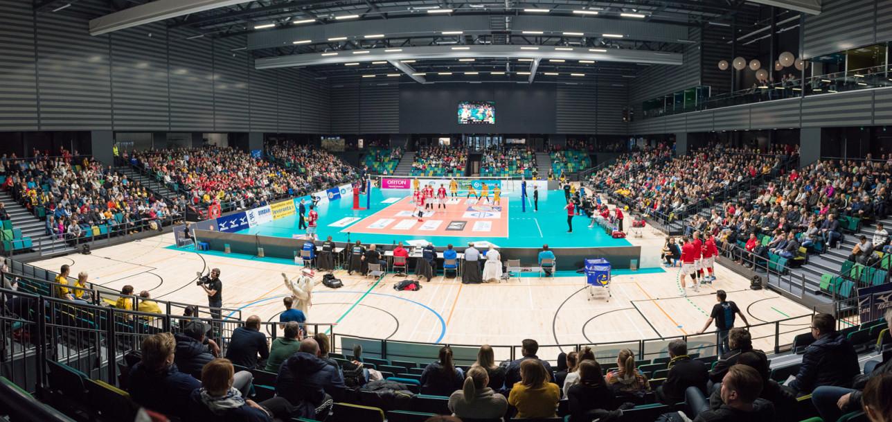Lentopallon Suomen Cup Kupittaan palloiluhallissa