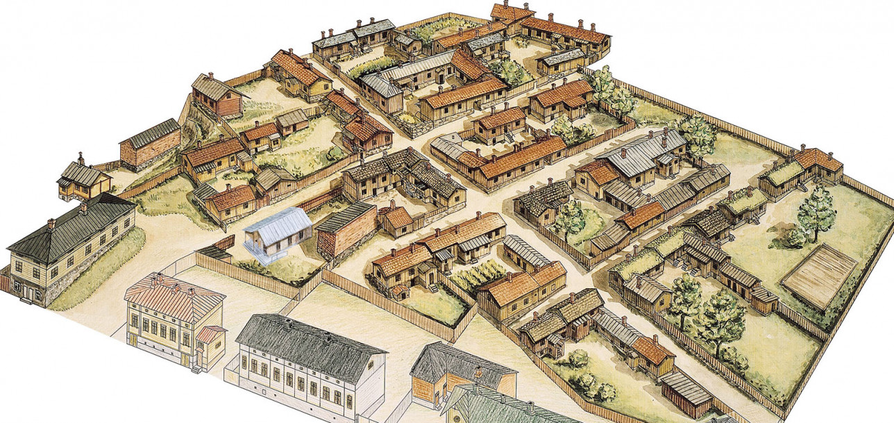 Luostarinmäki kartta