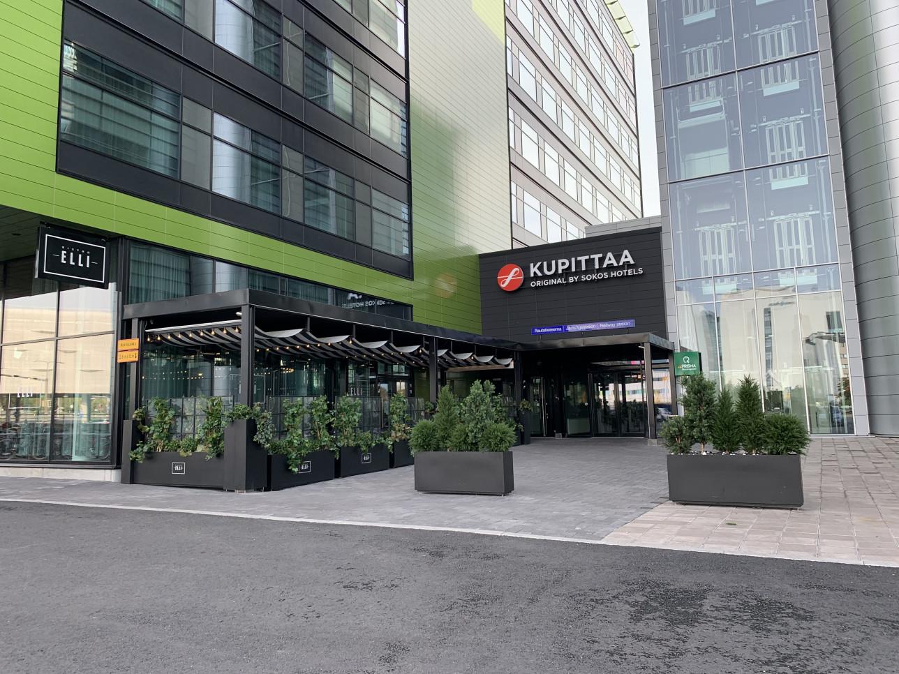 Original Sokos Hotel Kupitaan sisäänkäynti.