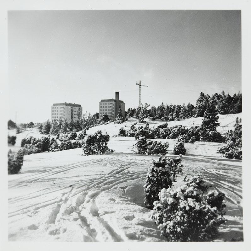 Iso-Heikkilä talvella 1959. Kuva: Turun museokeskuksen valokuvakokoelmat.