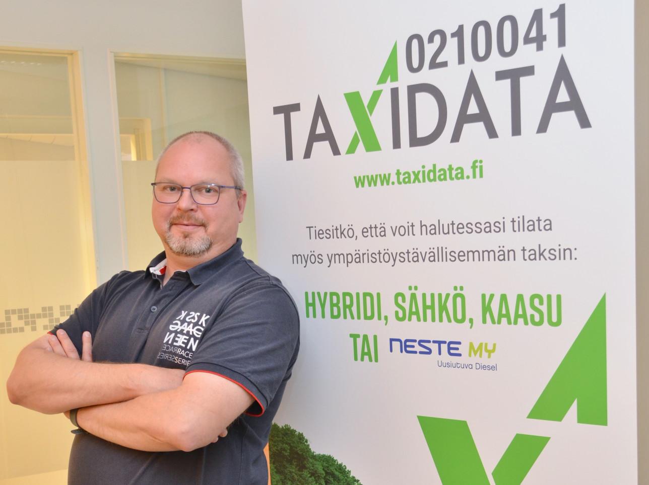 Lounais-Suomen Taxidata Oy:n toimitusjohtaja Tapani Ekuri