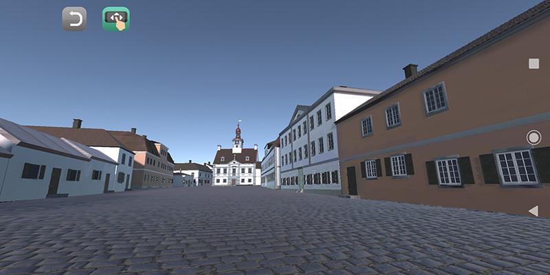 Digitaalinen mallinos esittää Suurtoria ennen vuoden 1812 Turun paloa.