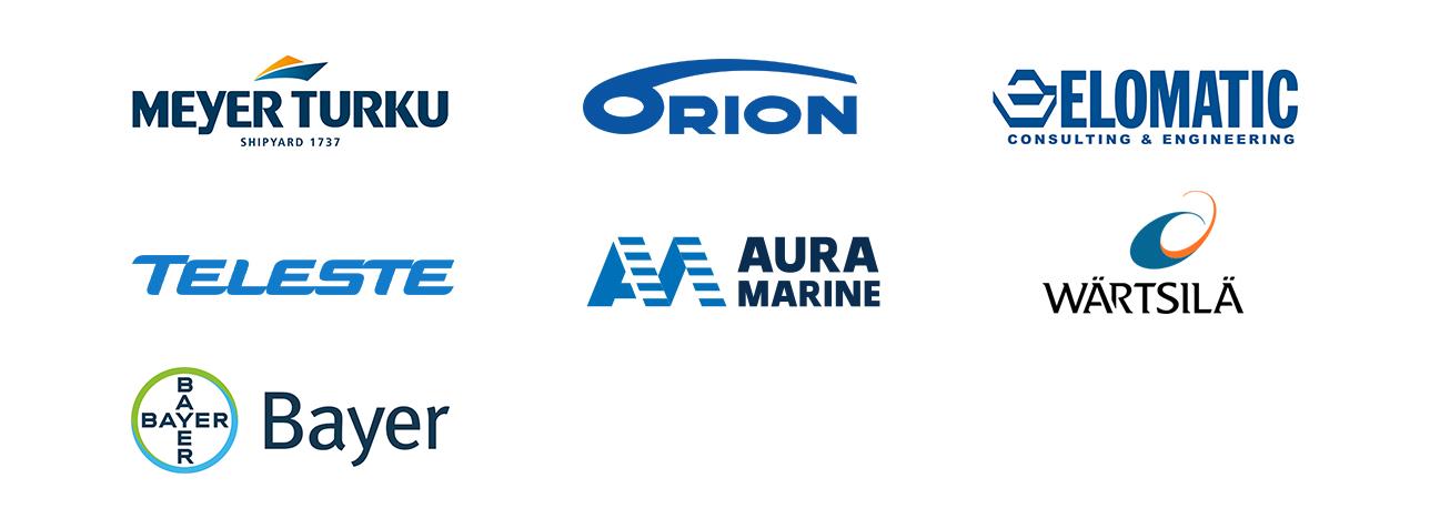 Kuvassa on kolmessa rivissä STEAM:in yhteistyökumppaneiden logot