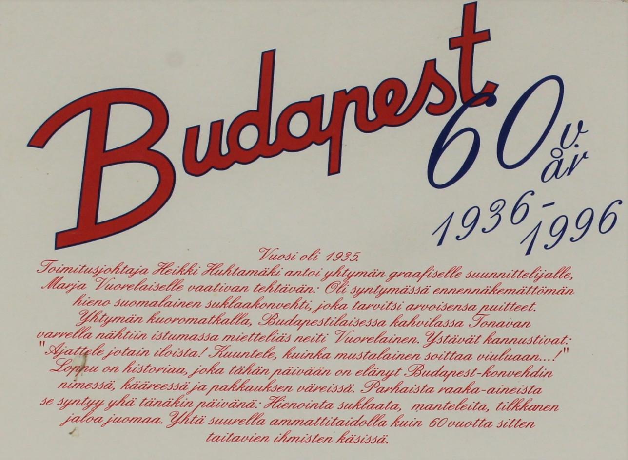 Rasian pohjassa on tarina siitä, kuinka graafinen suunnittelija sai idean Budapest-kääreeseen