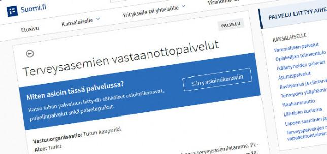 Kuvakaappaus suomi.fi-palvelusta
