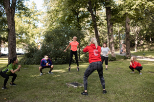 CampusSportin liikuntatuokio Study in Turku -messuilla 2020