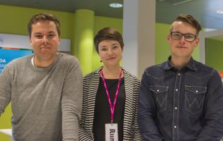 Anton Norrback (ÅAS), Riina Lumme (TYY) ja Tuomas Kivimäki (TUO)