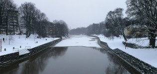 Aurajoki talvella