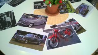 Vanhoja autoja ja moottoripyörä