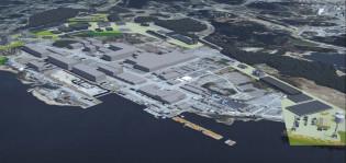 Havainnekuva Turun telakka-alueesta