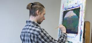 Työväenopisto maalaus