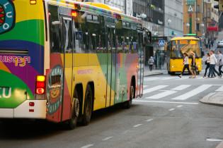 Föli bussi keskustassa