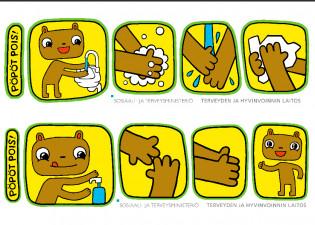 Käsien pesu infektioiden aikana