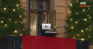Joulurauhan julistaja Mika Akkanen Visit Turku -tv:n haastattelussa