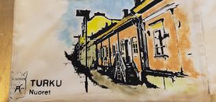 Painettu kassi, Turku-aihe