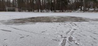 Kärsämäen kentän jäädytystilanne 8.1.2021