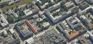 Ilmakuva Turun keskusta-alueesta.