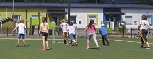 Ohjattua Kivakesä kulmilla -liikuntaa Varissuolla kesällä 2020.