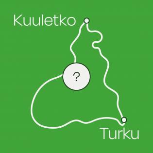 Graafinen Kuuletko Turku -tunnus