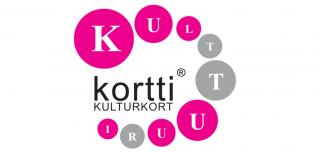 Kulttuurikortin pinkki-harmaa logo
