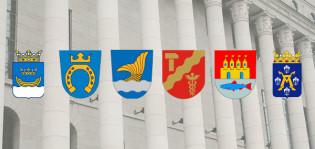 Suomen kuuden suurimman kaupungin vaakunat