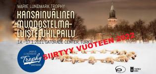 Kansainvälinen muodostelmaluistelukilpailu Marie Lundmark Trophy siirtyy vuoteen 2022.