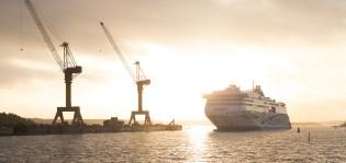 LNG-alus Megastar luovutettiin Tallinkille Meyer Turun telakalta
