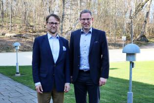 Sitran yliasiamies Mikko Kosonen ja Turun kaupunginjohtaja Aleksi Randell