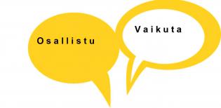 Osallistu ja vaikuta -puhekuplat