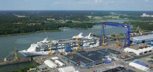 Laivaa rakennetaan Meyer Turun telakalla
