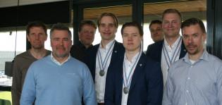 Janne Salmi, Markus Kalmari, Tapio Laine, Santeri Virtanen, Aleksi Anttalainen, Mika Korpela, Juuso Nieminen ja Kalle Sahlstedt.