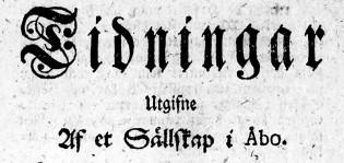 Vanhan sanomalehden otsikko