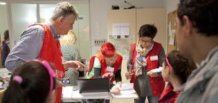 SPR:n vapaaehtoistoimintaa Porvoossa