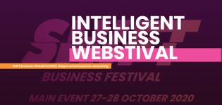 SHIFT-tunnus ja teksti Intelligent Business Webstival