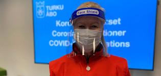 SPR:n vapaaehtoinen Sirpa Lundgren