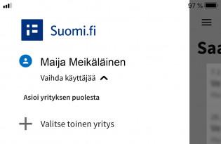 Suomi.fi-viestien mobiilinäkymä