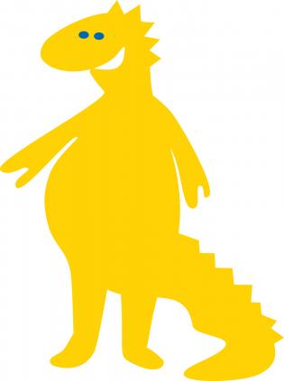 Kultainen lohikäärme Svenni kannustaa puhumaan ruotsia