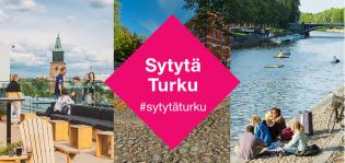 Aurajokimaisemia ja teksti Sytytä Turku #sytytäturku