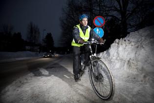 Talvipyöräily. Kuva: Liikenneturva/Nina Mönkkönen