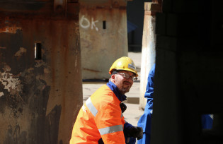 Shipyard worker at Meyer Turku