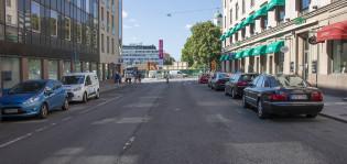 Yliopistonkatu Brahenkadun ja Kauppiaskadun väliltä.