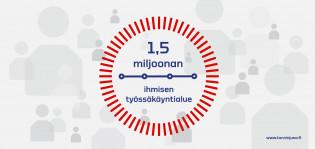 Grafiikka: 1,5 miljoonan ihmisen työssäkäyntialue