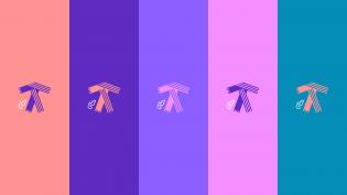 Tykkää turkulaisesta! -kampanjan logoja värikkäällä taustalla.
